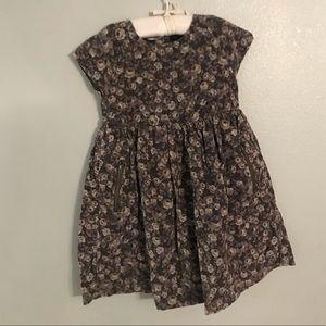 Corduroy Fit & Flare Flower Power Dress